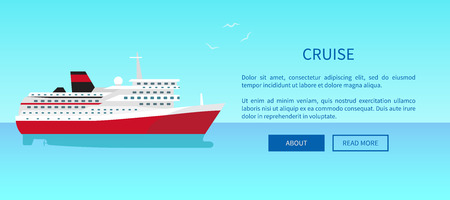 Cruise Liner Web Page Design in Travelling Concept