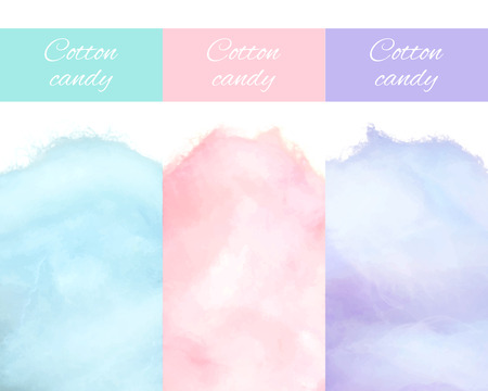 Cherry Bilberry and Blueberry Cotton Candy Vector