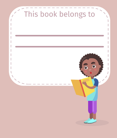 Place for Book Owner Name and African Boy on Cover