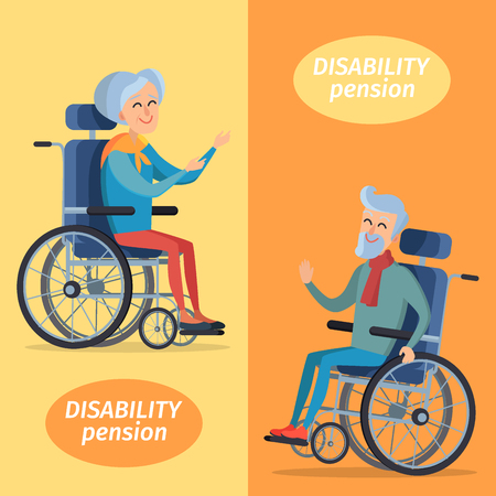 Disability Pension Two Pensioners on Wheelchairs