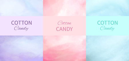 Cotton Candy Backgrounds in Purple, Pink and Blue