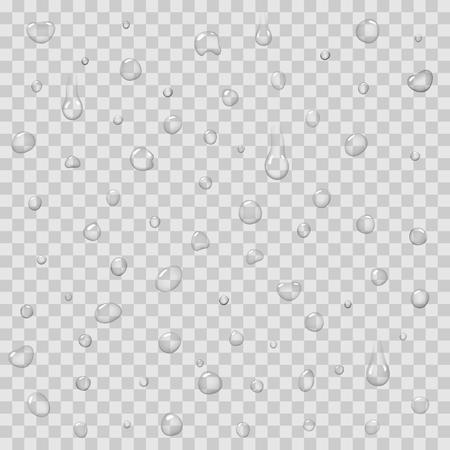 Naadloos Patroon met Regendalingen Geïsoleerde Vector Stock Illustratie