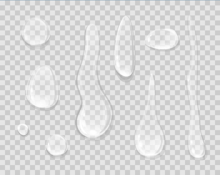 Rain Drops Isolated on Transparent Background. 向量圖像
