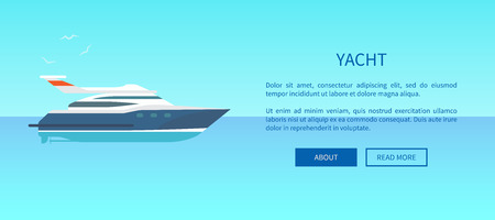 Yacht Rent Advertisement Poster Web Page Design