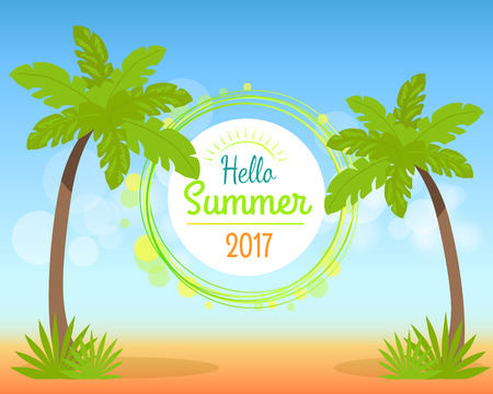 Hello Summer 2017 Poster with Place for Text