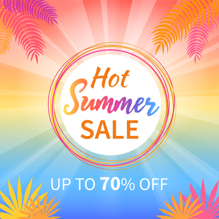Hot Summer Sale Up to 70 Percent Promotion Poster