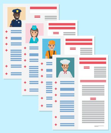 Carrière informatie folder platte vector concept