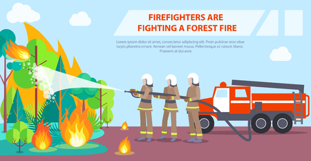 산불과 싸우는 소방관 포스터