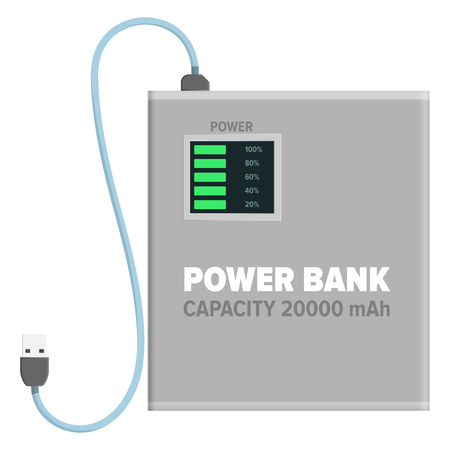 Power bank for charging isolated illustration Иллюстрация