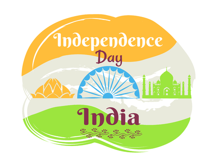 Indian Independence Day Poster with National Flag