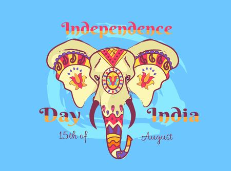 코끼리와 인도 포스터의 독립 기념일