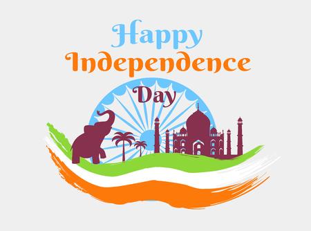 인도의 행복한 독립 기념일 휴일 포스터 스톡 콘텐츠 - 90744036