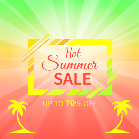 Hot summer sale up to 70 Off promotional placard