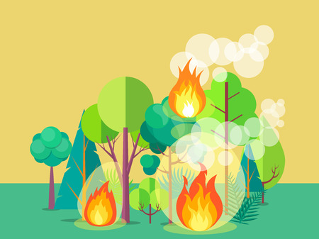 Poster Depicting Raging Forest Fire