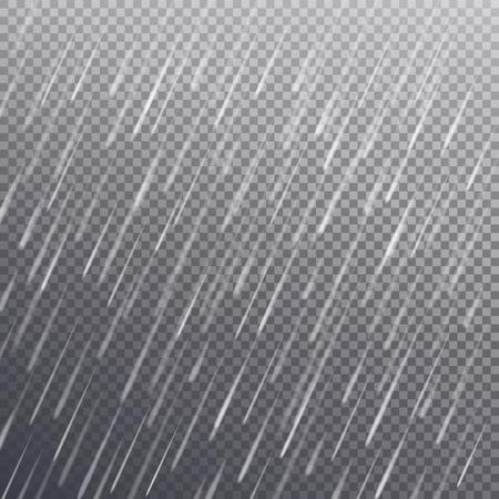 Naadloos patroon met regendalingen, geïsoleerde vector