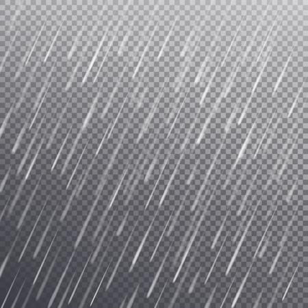 Seamless Pattern with Rain Drops, Isolated Vector
