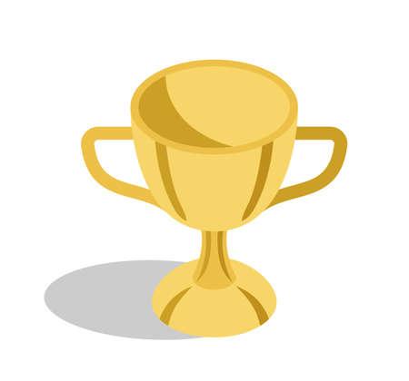 중대한 교육 공적을위한 금 트로피 컵