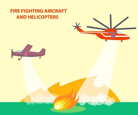 Vliegtuigen en helikopters Poster met tekst