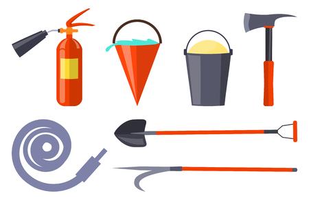 防火装置、ホワイトコレクション  イラスト・ベクター素材