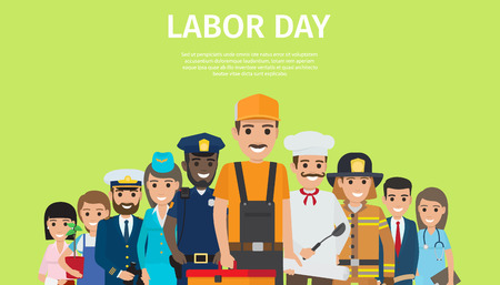 International Labor Day, Bright Promotion Poster Stock fotó - 90603298