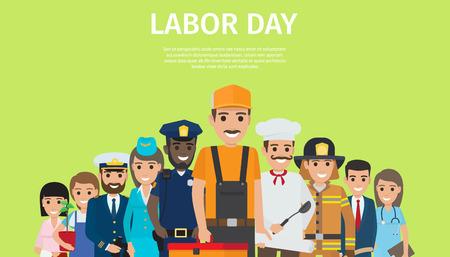 Międzynarodowy Dzień Pracy, jasny plakat promocyjny