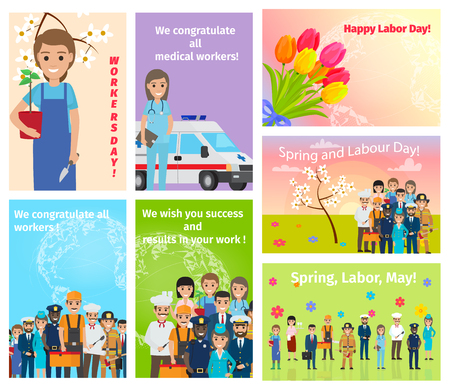 Spring Holiday Labour Day in May for All Workers
