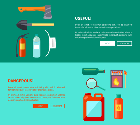 Useful and Dangerous Fire-Related Objects, Posters