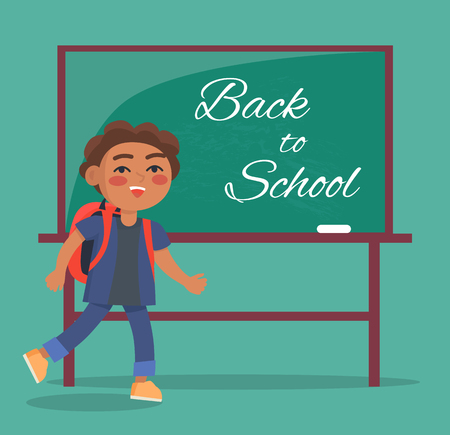 Back to School Banner with Text Depicting Kid
