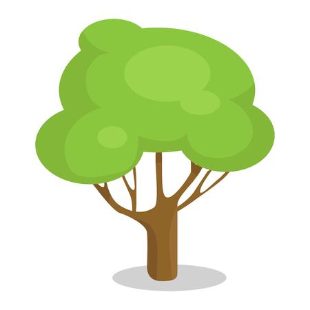 トランク ベクトル イラスト アイコンに緑の木