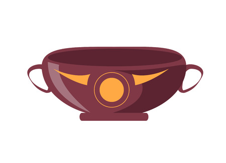 Ancient Greek Drinking Cup Isolated Illustration