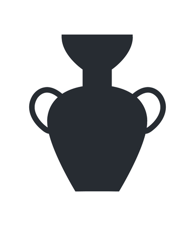 Ancient Greek Vase Isolated Illustration on White Çizim