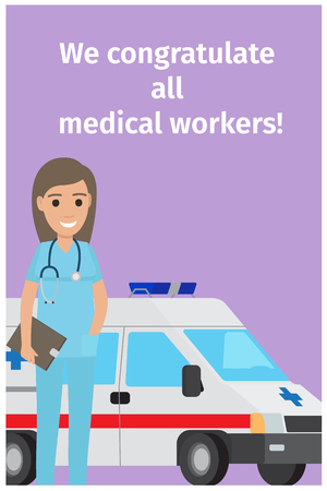We Congratulate All Medical Workers Greeting Card