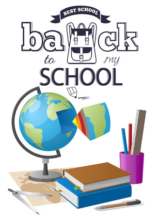 Back to School Sticker with Black-and White Text Stock fotó - 90101232