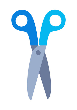 Scissors with Handle Vector Illustration Isolated