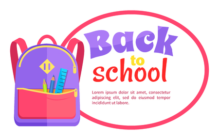 Backpack for Child with School Stationery Accessories