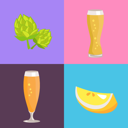 Four Beer Symbol Pictures icon Vector Illustration