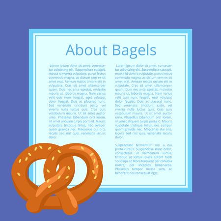 맛있는 빵 제품을 묘사 한 베이글 포스터 소개