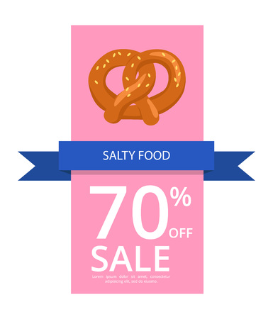Salty Food 70 Off Sale on Vector Illustration on poster or flyer background