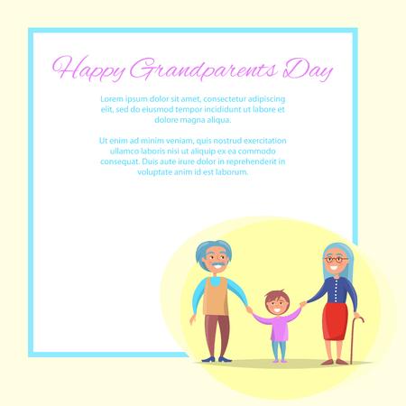 Happy Grandparents Day Senior Couple with Grandson