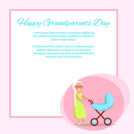 Happy Grandparents Day Senior Lady with Pram