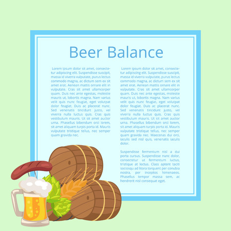 Beer Balance Poster with Light Blue Background