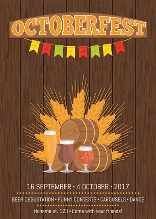 Oktoberfest Promotional Poster Vector