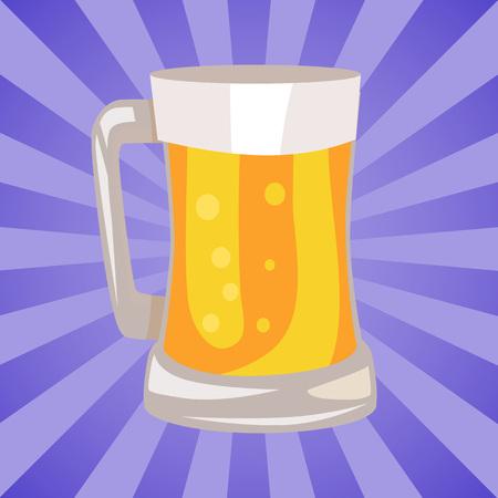 軽めのビールのマグカップ。