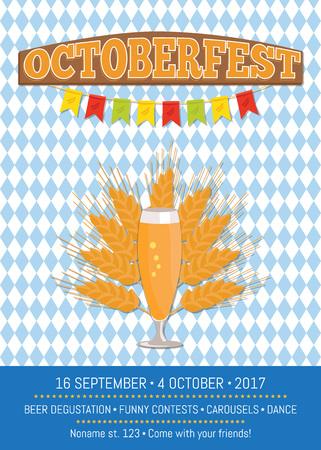 Affiche créative octoberfest avec des signes de foot Banque d'images - 90243417