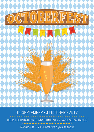 Octoberfest creative poster with information.