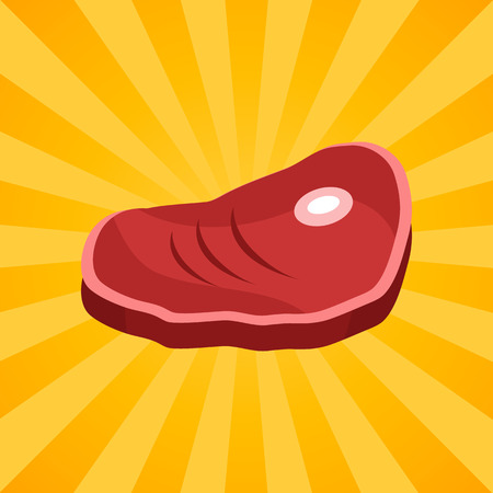 肉のイラスト。  イラスト・ベクター素材