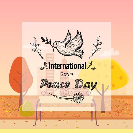 International peace day card design. Illustration