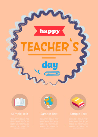 Happy Teachers Day Banner Vector Illustration