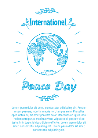 Peace Day International Holiday Poster with Earth Reklamní fotografie - 90321096
