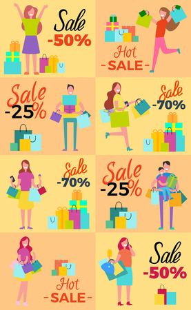 Hot Sale Collection of Posters with Shopaholics Banco de Imagens - 90321098